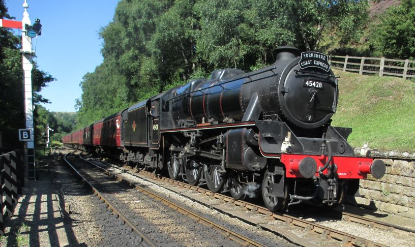 LMS 5428 BR 45428 ERIC TREACY Steam Locomotive Stanier Black