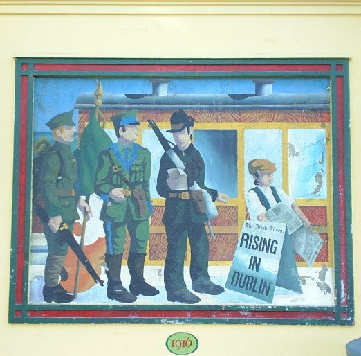 24 the 1916 easter rising mural on bray station co wicklow for Easter rising mural