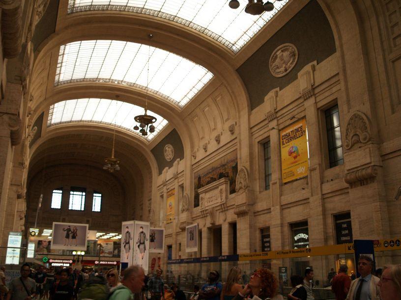 Railway trip italy turin torino milan milano florence - Milano porta garibaldi station ...