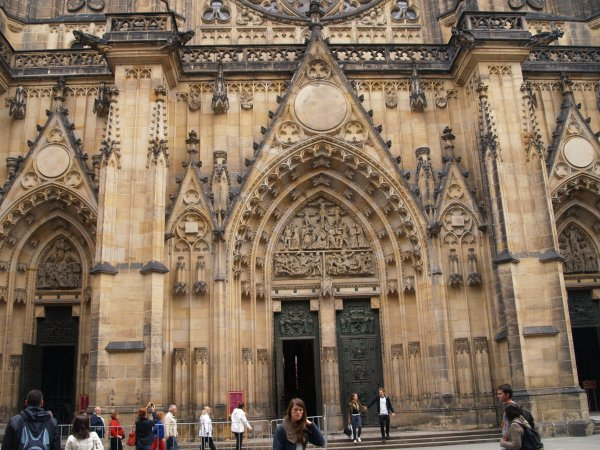 St Vitus Cathedral The West Facade Was Built In Highly Decorated Gothic Style 19th And 20th Centuries Extensions To Were