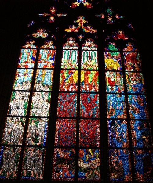 St Vitus Cathedral Some Of The Stunning 20th Century Stained Glass Windows