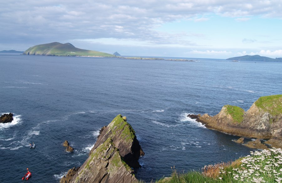 45 The Blasket Islands Viewed From The Cliffs Above