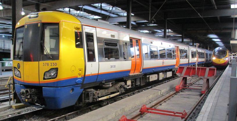 230 (Class 378/2 EMU 378230, carriage no. 38130), of London Overground ...