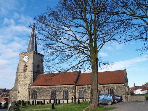 St Leonard's Church, Malton, of Norman origin circa. 1150.