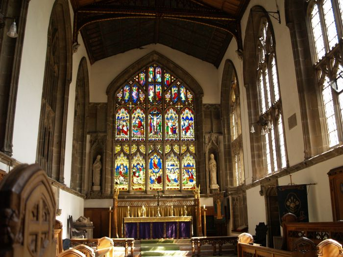 12b Nave Chancel Stained Glass Window Bell Ringers