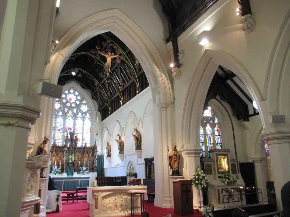Basilica Foyer Elysium Hotel : Erdington abbey rc church birmingham wedding moor hall