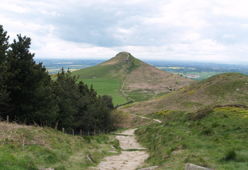 Picture 11 The Path Up Roseberry Topping On The Border Of