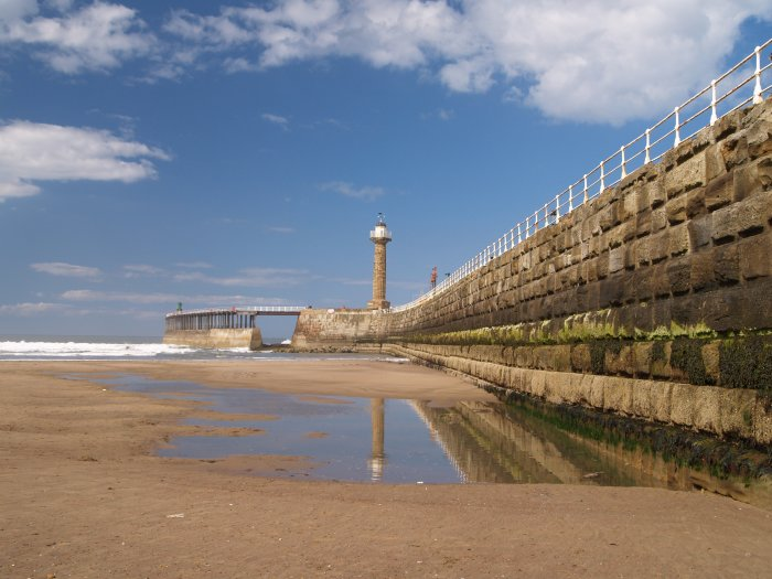 82 The West Pier And Sea Walls At The Entrance To Whitby