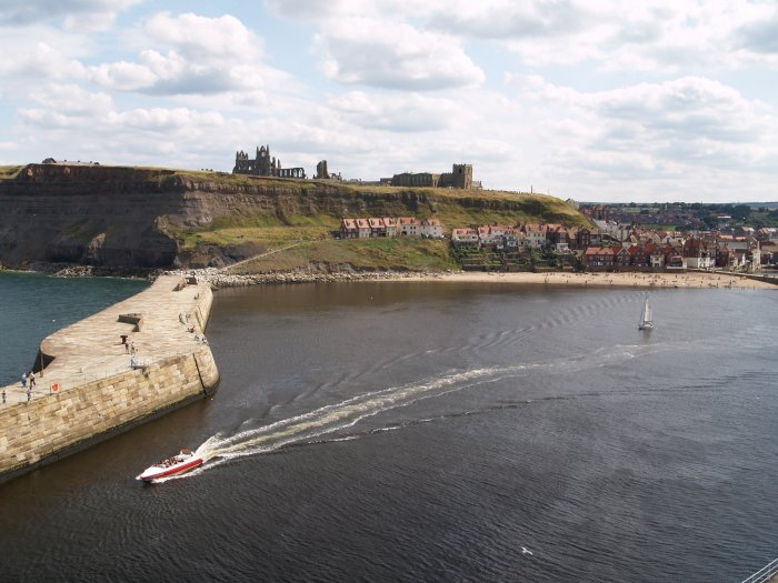 97 Tourist Speedboat Heading Out Of Whitby
