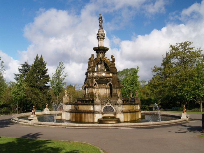 Streets Of Willow >> 22. Glasgow (11) Kelvingrove Park statues monuments ...