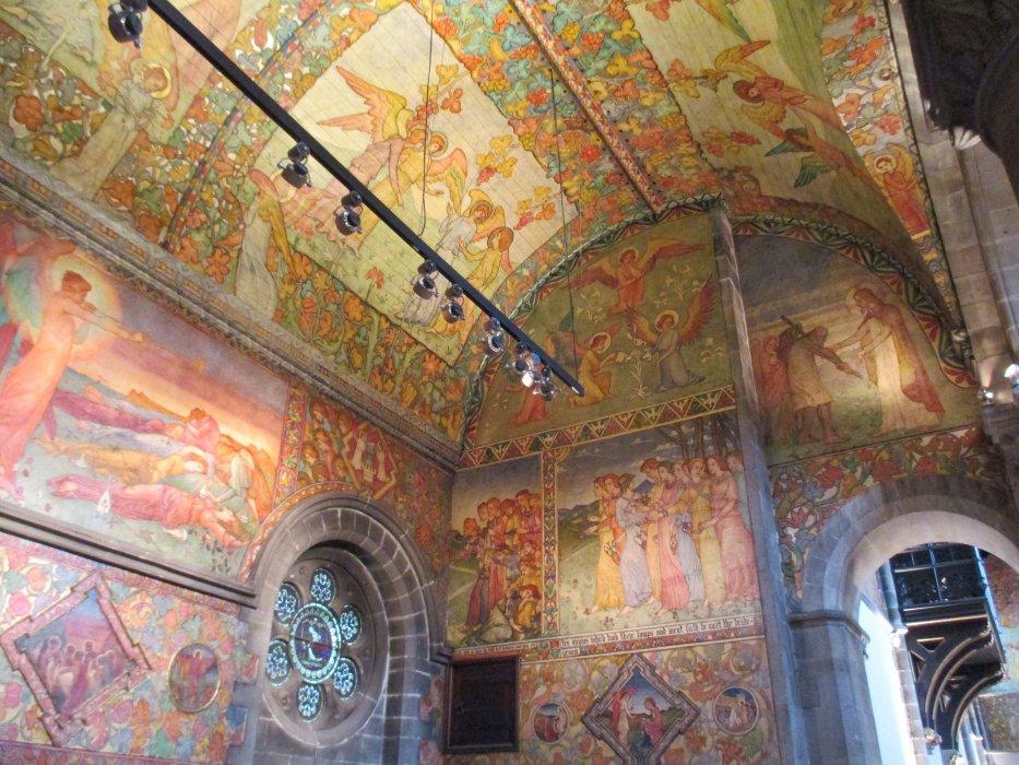 Mansfield traquair centre edinburgh wall mural paintings for Edinburgh wall mural