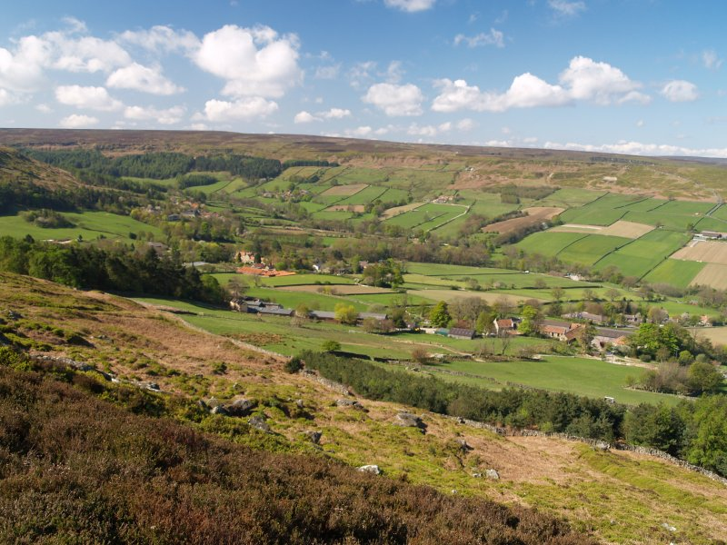 botton community danby dale looking down into the botton community from danby rigg - Danby