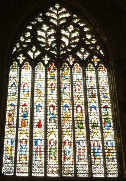the west end of the nave and the great west window of york