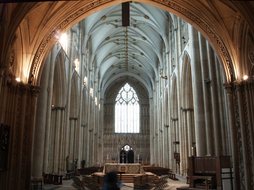 The interior of the nave of york minster for West window york minster