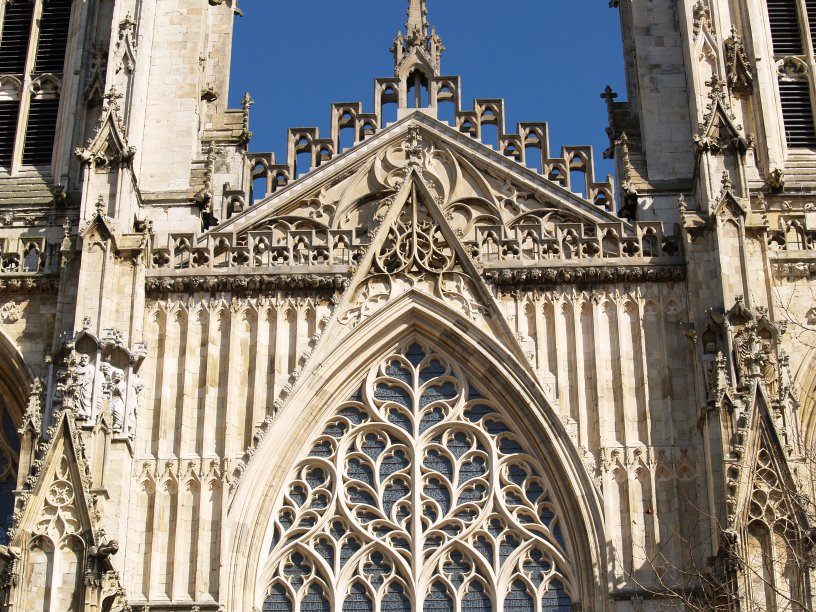 The west front facade and west towers of york minster for West window york minster