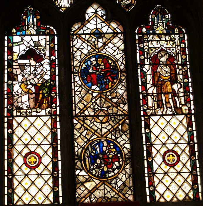Interior Of St Denys Church York Stained Glass Windows Stone