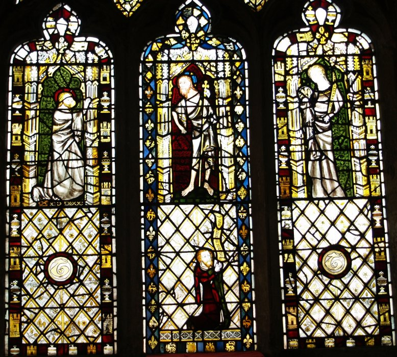 Interior Of St Denys Church York Stained Glass Windows Stone Sculptures Images Photos Pictures