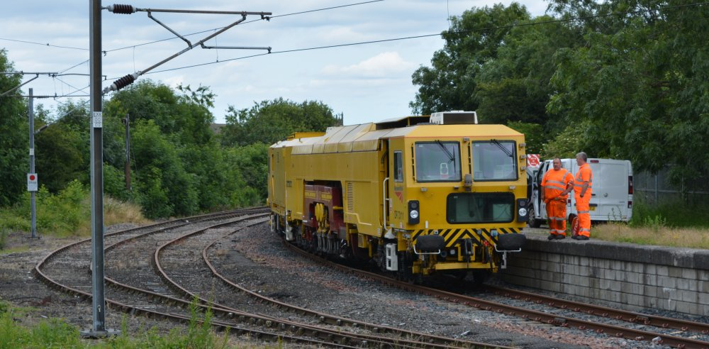 Network Rail On-Track Finishing Machines Ballast Tampers