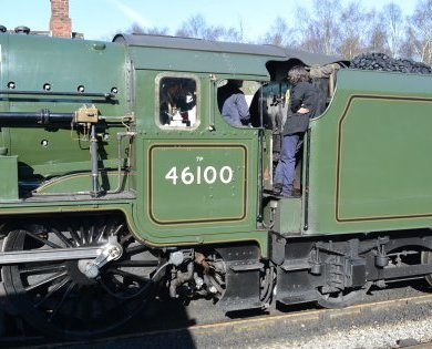 Preserved steam locomotives contemporay diesel electric