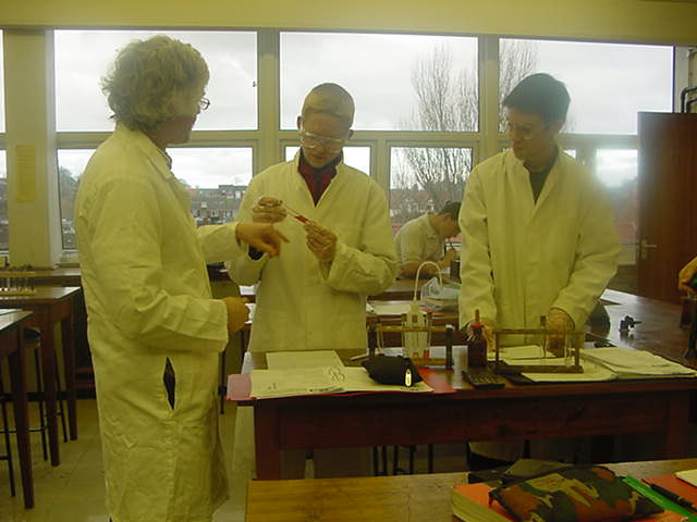 Year 12 AS Advanced Level Salters Chemistry Students at Whitby Community College Year 12 January 2002
